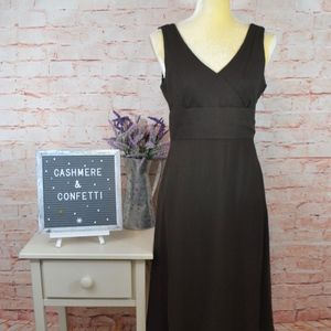 J. Crew Brown Silk Chiffon Sophia Dress Size 6 C3